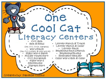 One Cool Cat Literacy A&B Pack-Kinder/1st (CCSS)