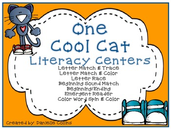 One Cool Cat  Literacy A Pack (Kinder CCSS)