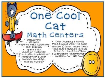 One Cool Cat Math A & B Pack-Kinder/1 CCSS