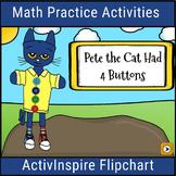 Pete the Cat Math Activities: Promethean Flipchart