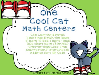 One Cool Cat Math B Pack -Kinder/1 CCSS