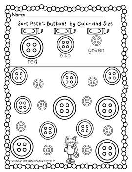 Pete the Cat Math Buttons