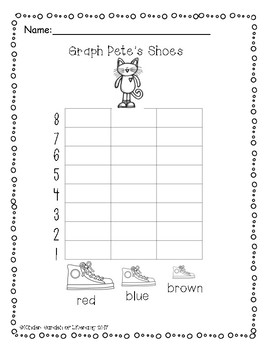 Pete the Cat Math-Graphing, Sorting, and Numbers