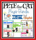 Pete the Cat Mega-Bundle l Reading Comprehension, Spring Sight Words & More!