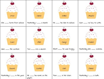 Pete the Cat (Missing Cupcakes) Speech & Language (narrative & syntax activity)