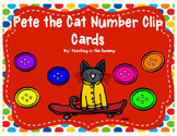 Pete the Cat Number Clip Cards