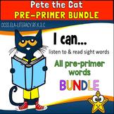 Pete the Cat: Pre-primer Sight Word Bundle BOOM CARDS