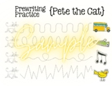 Pete the Cat, Prewriting Worksheet