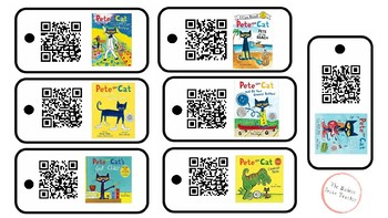 Pete the Cat QR Code Listening Center