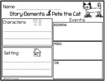 Pete the Cat Reading Activities - FREEBIE