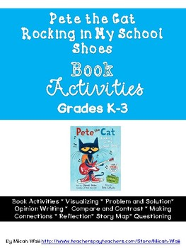 Pete the Cat Rocking in My School Shoes Book Activities