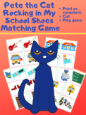 Pete the Cat Rocking in My School Shoes Matching Game