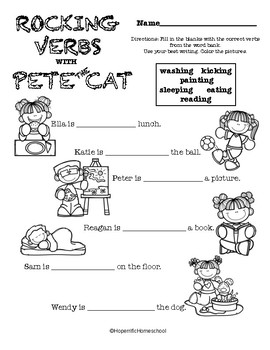 Pete the Cat  Rocking in My School Shoes  NO PREP ...