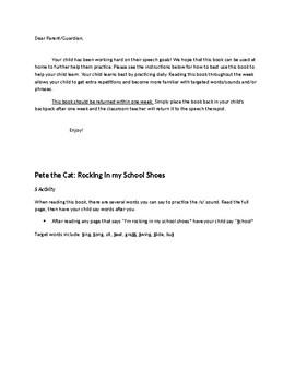 Pete the Cat: Rocking in my School Shoes Speech/Language/Fluency Activities