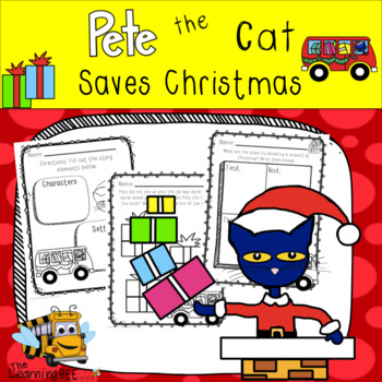 Pete The Cat Saves Christmas Book Companion By The Learning Beezzz