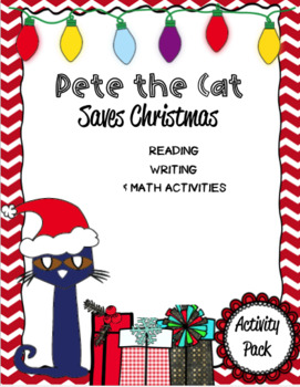 Pete The Cat Saves Christmas Companion Pack By Autism Educational