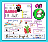 Pete the Cat: Saves Christmas Phonic & Synonyms Reading Comprehension Task Cards