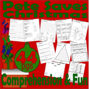 Pete the Cat Saves Christmas : Book Companion Comprehension Math Activity Pack