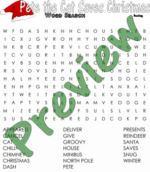 Pete the Cat Saves Christmas Vocabulary Spelling Activity Packet : LINED PAPER