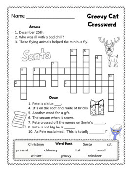"""Pete the Cat Saves Christmas """"No-PREP Worksheets"""" Book Companion"""