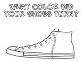 Pete the Cat Shoe Coloring Sheet