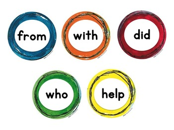 Sight Word Buttons