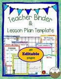 Pete the Cat Teacher Binder/Lesson Plan Template- EDITABLE