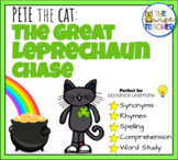 Pete the Cat:  The Great Leprechaun Chase - St Patricks Day Sight Words + MORE!