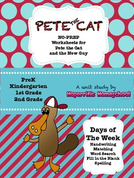 Pete the Cat- The New Guy- NO PREP Worksheets