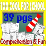 Pete the Cat Too Cool for School : Comprehension Book Companion & Activity Unit