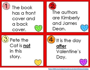 Pete the Cat Valentine's Day Is Cool Scoot Game
