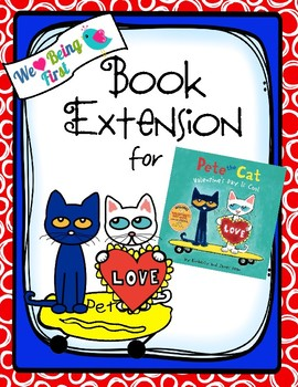 Pete the Cat Valentine's Day is Cool Book Extension K-1