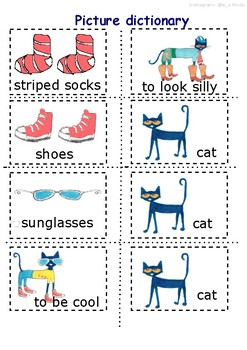Pete the Cat _Too Cool for School_ small flashcards