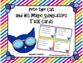 Pete the Cat and His Magic Sunglasses Task Cards