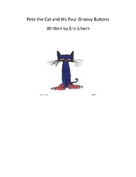 Pete the Cat and his Four Groovy Buttons - QR Code Scavenger Hunt - Book Study