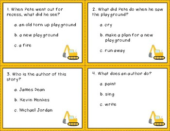 Pete the Cat and the Construction Destruction Task Cards