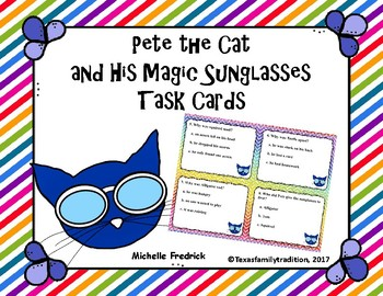 Pete the Cat and the Magic Sunglasses Task Cards