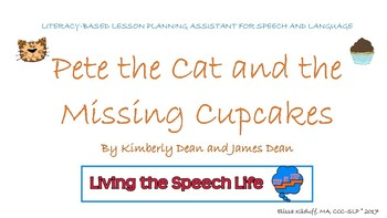 Pete the Cat and the Missing Cupcakes literacy-based lesson plan assistant