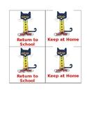 Pete the Cat homework folder labels
