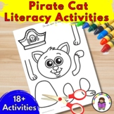 Pirate Cat - Literacy Pirate Activities for Kindergarten/Preschool