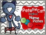 Pete the Cat inspired Name Plates