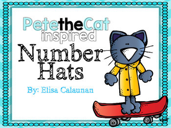 Pete the Cat inspired Number Hats 1-10