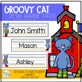 Pete the Cat inspired desk nametags