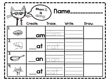 Pete the Cat reviews skills