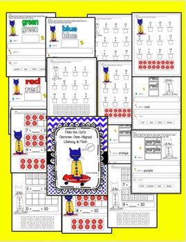 Pete the Cat's Literacy & Math Centers and Activities