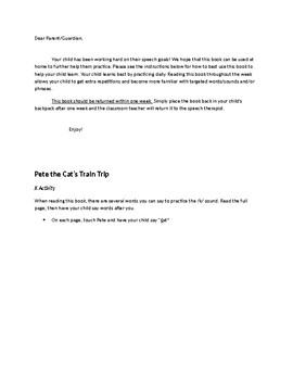 Pete the Cat's Train Trip Speech/Language/Fluency Activities