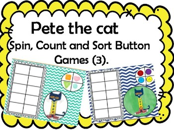Pete the Cat: set of 3 board games.