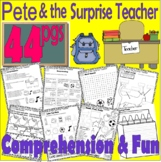 Pete the Cat & the Surprise Teacher : Comprehension Thematic Unit Book Companion