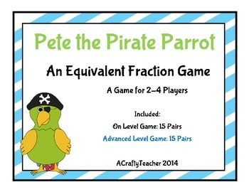 Pete the Pirate Parrot an Equivalent Fraction Game