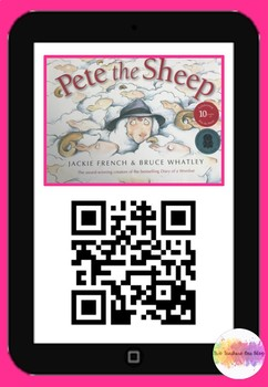 Pete the Sheep QR code comprehension pack